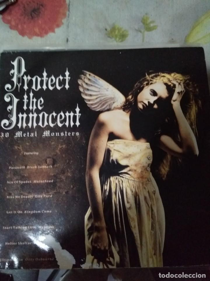 PROTECT THE INOCCENT BLACK SABBATH,JUDAS PRIEST,RECOPILATORIO HEAVY DOBLE LP (Música - Discos - LP Vinilo - Heavy - Metal)