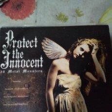 Discos de vinilo: PROTECT THE INOCCENT BLACK SABBATH,JUDAS PRIEST,RECOPILATORIO HEAVY DOBLE LP. Lote 187635948