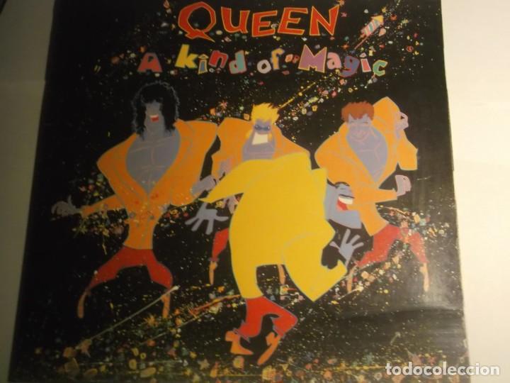 QUEEN-A KIND OF MAGIC-ORIGINAL ESPAÑOL-PORTADA ABIERTA-CONTIENE ENCARTE (Música - Discos - LP Vinilo - Pop - Rock - New Wave Extranjero de los 80)