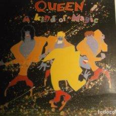 Discos de vinilo: QUEEN-A KIND OF MAGIC-ORIGINAL ESPAÑOL-PORTADA ABIERTA-CONTIENE ENCARTE. Lote 187636331