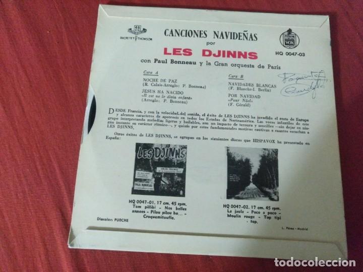 Discos de vinilo: CANCIONES NAVIDEÑAS POR LES DJINNS - Foto 2 - 187652606