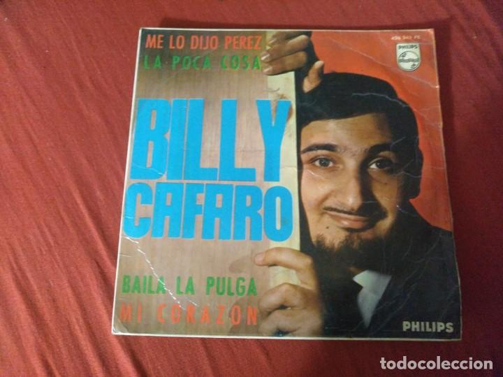 BILLY CAFARO ME LO DIJO PEREZ (Música - Discos - Singles Vinilo - Otros estilos)