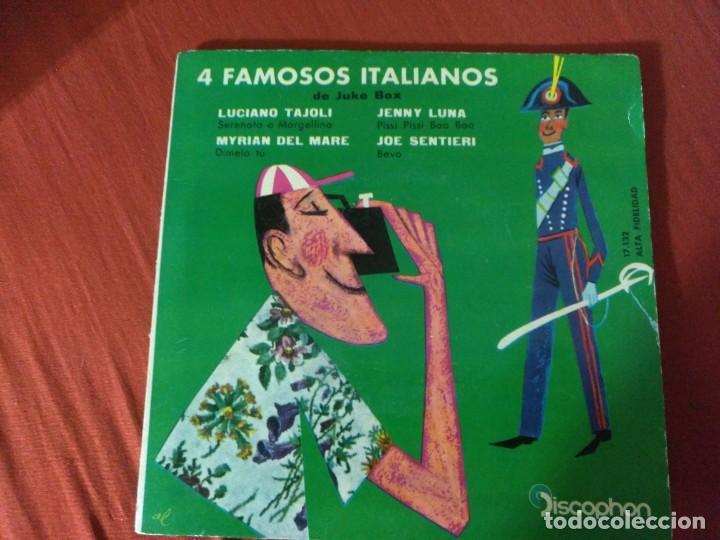 4 FAMOSOS ITALIANOS LUCIANO TAJOLI (Música - Discos - Singles Vinilo - Otros estilos)