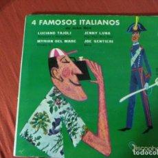 Discos de vinilo: 4 FAMOSOS ITALIANOS LUCIANO TAJOLI . Lote 187654298