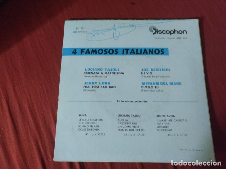 Discos de vinilo: 4 FAMOSOS ITALIANOS LUCIANO TAJOLI - Foto 2 - 187654298