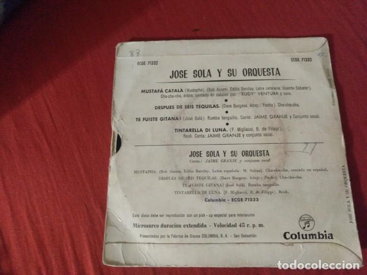 Discos de vinilo: JOSE SOLA Y SU ORQUESTA MUSTAFÁ CATALA - Foto 2 - 187654577