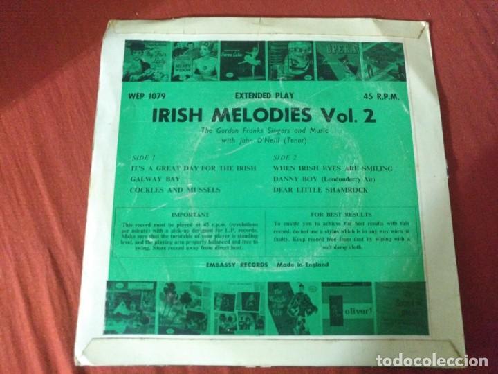 Discos de vinilo: IRISH MELODIES VOL 2 IT'S A GREAT DAY FOR THE IRISH - Foto 2 - 187655767