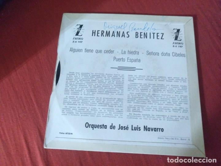 Discos de vinilo: HERMANAS BENÍTEZ ALGUIEN TIENE QUE CEDER - Foto 2 - 187655901