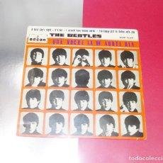 Discos de vinilo: THE BEATLES - A HARD DAY´S NIGHT----LABEL AZUL FUERTE --1ª EDICION ESPAÑA 1964--- --DSOE 16619. Lote 167546412