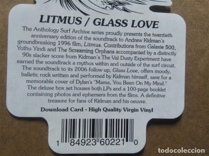 Discos de vinilo: VARIOUS / ANDREW KIDMAN - 20 LITMUS / GLASS LOVE 10 2 LP + BOOK 2015 BOX - Foto 3 - 187824373