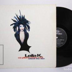 Discos de vinilo: DISCO MAXI SINGLE DE VINILO - LEILA K / CA PLANE POUR MOI, CHECK THE DAN - URBAN 1993 - ALEMANIA. Lote 217876062