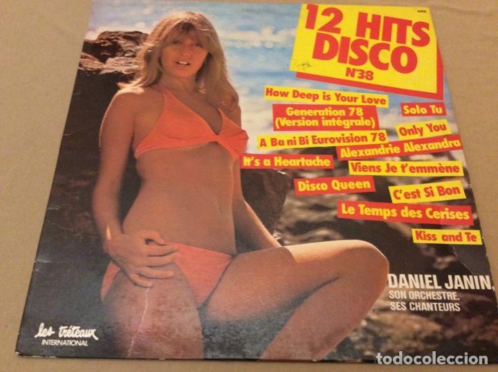 DANIEL JANIN. 12 HITS DISCO N38. (Música - Discos - LP Vinilo - Disco y Dance)