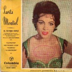 Discos de vinilo: SARITA MONTIEL - CLAVELITOS + 3 EP.S. Lote 188408340