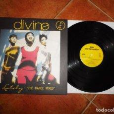 Discos de vinilo: DIVINE LATELY THE DANCE MIXES MAXI SINGLE VINILO ESPAÑA DEL AÑO 1988 CONTIENE 4 TEMAS MUY RARO. Lote 188415900