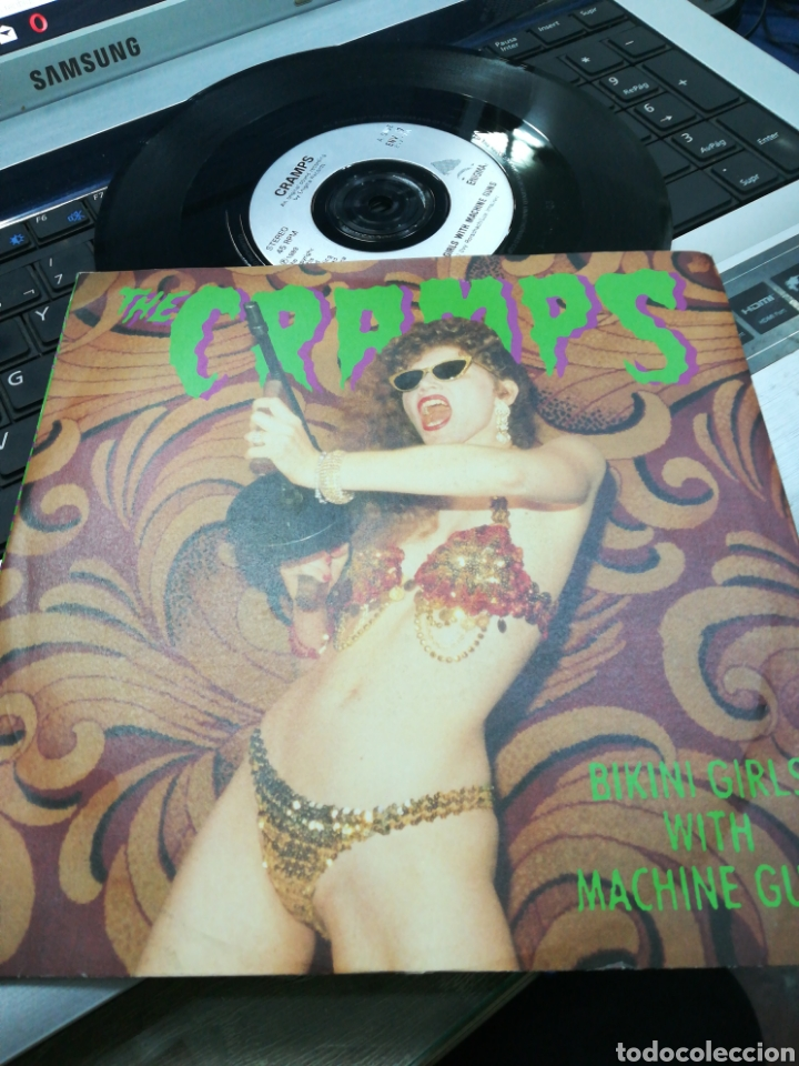 THE CRAMPS SINGLE BIKINI GIRLS WITH MACHINE GUNS 1990 (Música - Discos - Singles Vinilo - Punk - Hard Core)