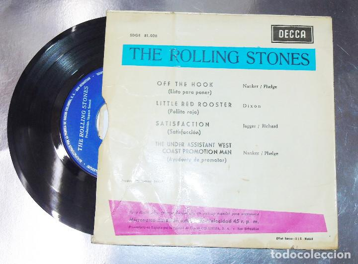Discos de vinilo: THE ROLLING STONES --SATISFACTION & OFF THE HOOK & LITTLE RED ROOSTER -- AÑO 1965 - Foto 2 - 161014666