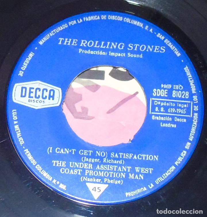 Discos de vinilo: THE ROLLING STONES --SATISFACTION & OFF THE HOOK & LITTLE RED ROOSTER -- AÑO 1965 - Foto 4 - 161014666