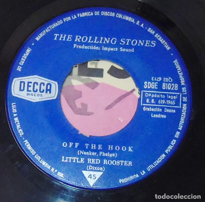 Discos de vinilo: THE ROLLING STONES --SATISFACTION & OFF THE HOOK & LITTLE RED ROOSTER -- AÑO 1965 - Foto 6 - 161014666