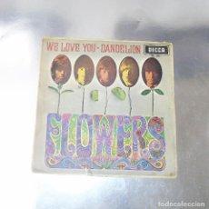 Discos de vinilo: THE ROLLING STONES --- WE LOVE YOU & DANDELION --ORIGINAL AÑO 1967 -DECCA ME 342. Lote 169023556
