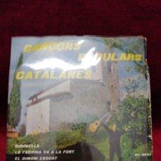 Discos de vinilo: CANÇONS POPULARS CATALANES . Lote 188455575