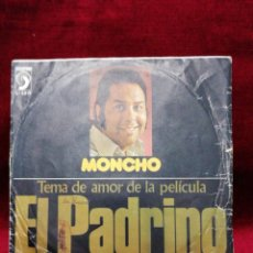 Discos de vinilo: MONCHO. TEMA DE AMOR DE LA PELÍCULA EL PADRINO. Lote 188455655