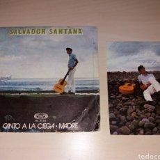 Discos de vinilo: SINGLE + POSTAL CON AUTOGRAFO - SALVADOR SANTANA. Lote 188460003