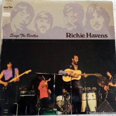 Discos de vinilo: LP RICHIE HAVENS - SING THE BEATLES (1981). Lote 188485185