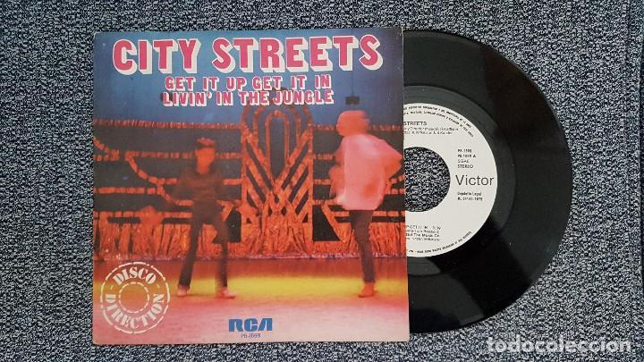 CITY STREETS - GET IT UP GET IT IN / LIVIN´IN THE JUNGLE. AÑO 1.979. EDITADO POR RCA. PROMOCINAL (Música - Discos de Vinilo - Maxi Singles - Disco y Dance)