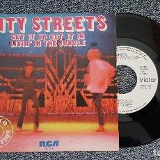 Discos de vinilo: CITY STREETS - GET IT UP GET IT IN / LIVIN´IN THE JUNGLE. AÑO 1.979. EDITADO POR RCA. PROMOCINAL. Lote 188485393
