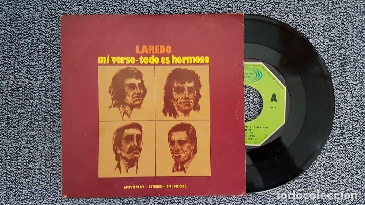 LAREDO - MI VERSO / TODO ES HERMOSO. AÑO 1.975. EDITADO POR MOVIEPLAY (Música - Discos - Singles Vinilo - Grupos Españoles de los 70 y 80)