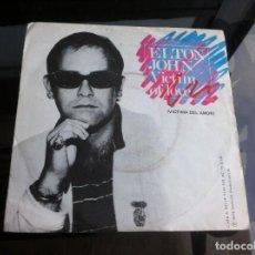 Discos de vinilo: SINGLE / EP. ELTON JOHN. VICTIM OF LOVE. STRANGERS. 1979, ESPAÑA.. Lote 188499237