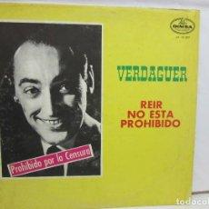 Discos de vinilo: JUAN VERDAGUER - REIR NO ESTA PROHIBIDO - COMEDIA - DIMSA - VENEZUELA - VG+/VG. Lote 188499722