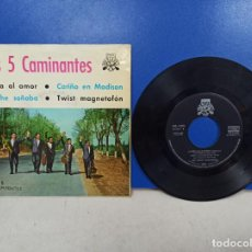 Discos de vinilo: EP DISCO VINILOS LOS 5 CAMINANTES LLAMA AL AMOR +3. Lote 188503307