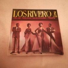 Discos de vinilo: SINGLE. LOS RIVERO. ASI ASI. ROXANA. MAZUCAMBA. PIROPO. 1961. ZAFIRO. Lote 188510396