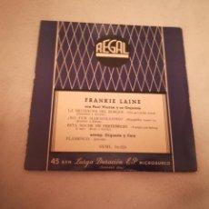 Discos de vinil: SINGLE. FRANKIE LAINE CON PAUL WESTON Y SU ORQUESTA. REGAL. Lote 188512643