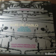 Discos de vinilo: LUIS DE PABLO - POLAR - MODULOS I - MODULOS II ******* J.M. FRANCO GIL LP 1967 GRAN ESTADO. Lote 188516175