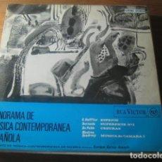 Discos de vinilo: VVAA - PANORAMA DE LA MÚSICA CONTEMPORÁNEA ESPAÑOLA *** RARO LP LUIS DE PABLO, MESTRES QUADRENY 1967. Lote 188516261