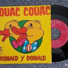 Discos de vinilo: RONALD Y DONALD - COUAC COUAC. AÑO 1.974. EDITADO POR ZAFIRO. Lote 188522792