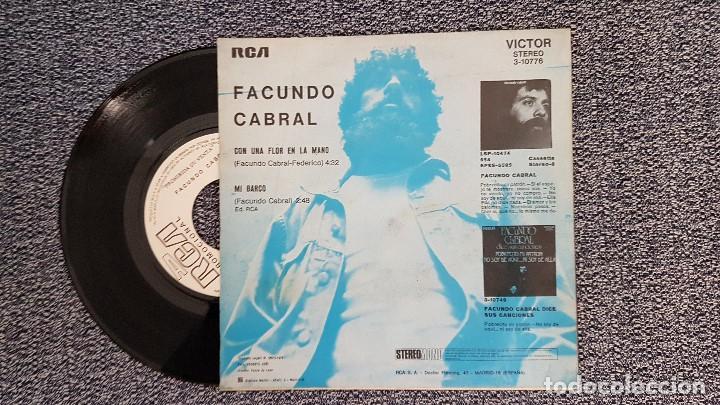 Discos de vinilo: Facundo Cabral - Con una flor en la mano / Mi barco. año 1.972. Disco promocional. editado por RCA - Foto 2 - 188523381