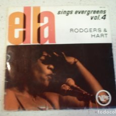 Discos de vinilo: ELLA FITZGERALD - THIS CAN'T BE LOVE - ISN'T IT ROMANTIC - THE LADY IS A TRAMP - THERE'S A SMALL HOT. Lote 188525245