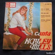 Discos de vinilo: HAYLEY MILLS // CESTO DE COLORES. Lote 188540153