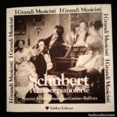 Discos de vinilo: SCHUBERT ED. ITALIANA 1978 I GRANDI MUSICISTI PEZZI PER PIANOFORTE - FABBRI EDITORI -. Lote 188541346
