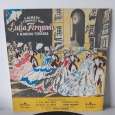 Discos de vinilo: LUISA FERNANDA. F MORENO TORROBA. G FERNANDEZ SHAW. ALAMBRA MCC30022 ALAMBRA.. Lote 188553328