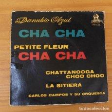 Discos de vinilo: CARLOS CAMPOS Y SU ORQUESTA -EP VINILO 7''- DANUBIO AZUL / PETITE FLEUR / CHATTANOOGA.... Lote 188572040