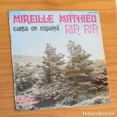 Discos de vinilo: MIREILLE MATHIEU CANTA EN ESPAÑOL -EP VINILO 7''- RIN RIN / NAVIDADES BLANCAS / PETIT.... Lote 188572086