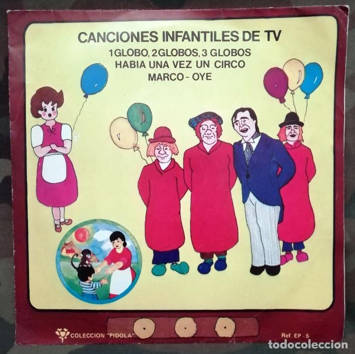 CANCIONES INFANTILES DE T.V. EP, PROMO SPAIN 1977 UN GLOBO, DOS GLOBOS, TRES GLOBOS HABÍA UNA VEZ (Música - Discos de Vinilo - EPs - Música Infantil)