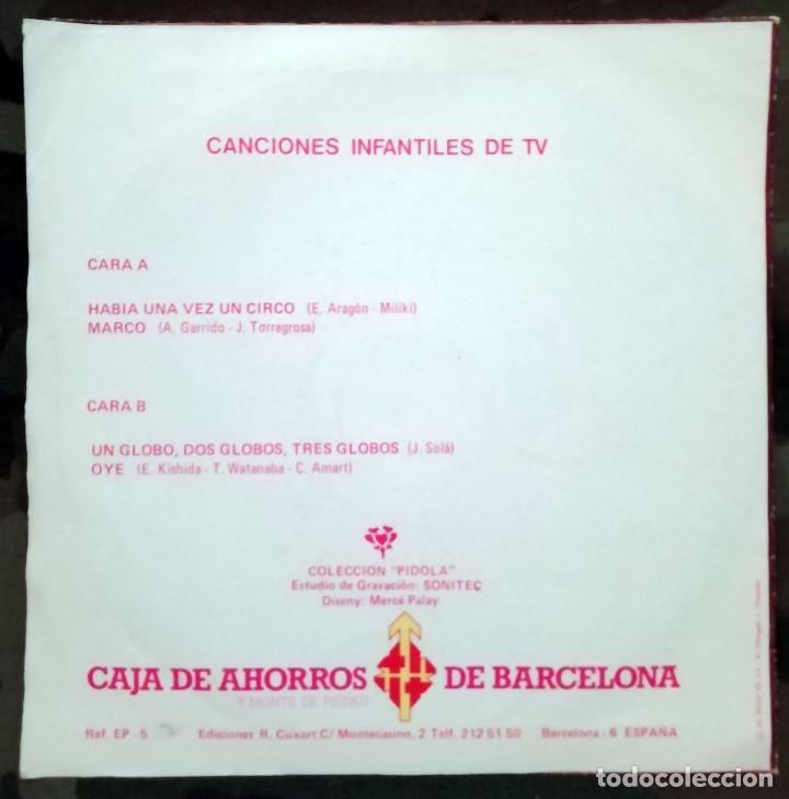 Discos de vinilo: Canciones Infantiles De T.V. EP, Promo Spain 1977 Un Globo, Dos Globos, Tres Globos Había Una Vez - Foto 2 - 188580640