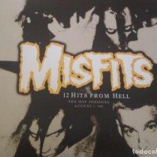 Discos de vinilo: MISFITS 12 HITS FORM HELL LP VINILO VERDE. Lote 188585613