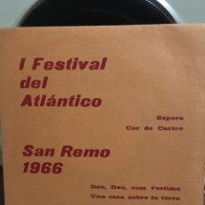Discos de vinilo: DE RAYMOND-ESPERA+3-1966-SAN REMO 1966-CARPETA PROMOCIONAL-NUEVO!!!-MUY MUY RARO. Lote 188595791