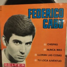 Discos de vinilo: FEDERICO CABO-CHISPAS+3-1965-EXCELENTE ESTADO. Lote 188596640